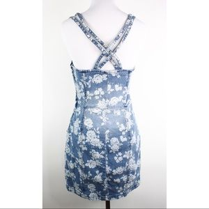 b0dc495e27 Wet Seal Dresses - VTG 90s Wet seal denim jean mini dress floral Sz M